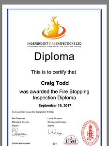fire stopping inspections